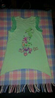 Kinder Mädchen T-Shirt von pezzo Doro Gr.146/152/158 Vokuhila Blumen Glitzer  online kaufen