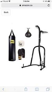 Everlast Boxing dual boxing Stand including bags.