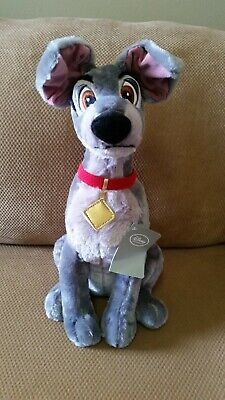 Disney Store Authentic Tramp Plush Lady and the Tramp Medium 16'' New with Tags