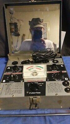 Vintage Sencore Tc109 Mighty Mite Vacuum Tube Checker Tester W Booklet Works