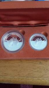 2001 Proof Kookaburra Silver 2 coin set Southern River Gosnells Area Preview