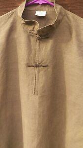 43569a4ab7d3ea Hemp Shirt Chinese Collar