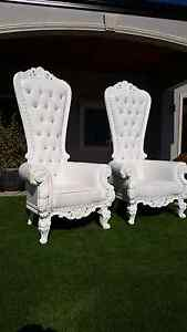 $199 KING & QUEEN THRONE CHAIRS Hire Yangebup Cockburn Area Preview