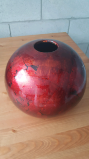Red Vase - Oval