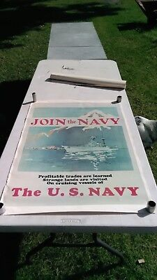 """vintage 1974 U.S. NAVY poster 25""""x37"""""""