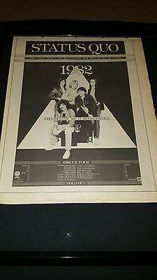Status Quo Rare Original 1982 U.K. Tour Promo Poster Ad Framed!