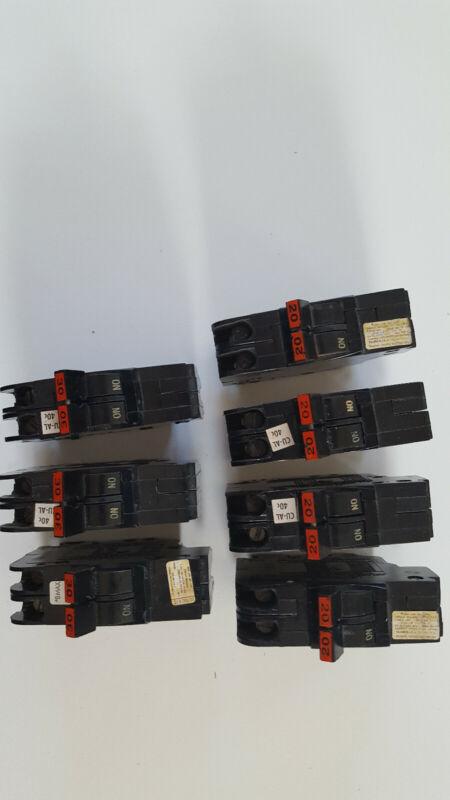FPE Stab Lok 2 pole circuit breakers.