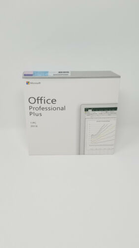 Microsoft Office 2019 MS Office Professional Plus Retail DVD Windows 10 1PC