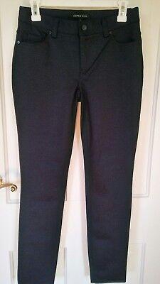 902 Andrew Marc Ponte Pant Stretch size 2 career straight leg black/navy pattern