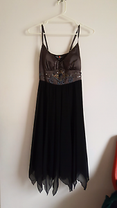 Brown formal dress with beads. Size 12 Bracken Ridge Brisbane North East Preview