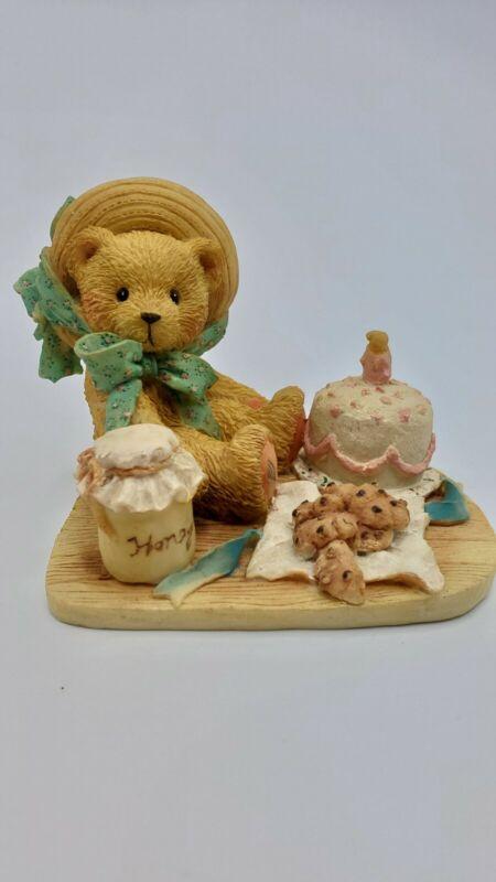 "Cherished Teddies Anna #950459 ""Hooray For You"" Enesco P. Hillman Birthday Bear"