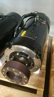 Fadal 15 Hp Spindle Motor W Encoder Cooling Fan Including Pulley Mtr-0282