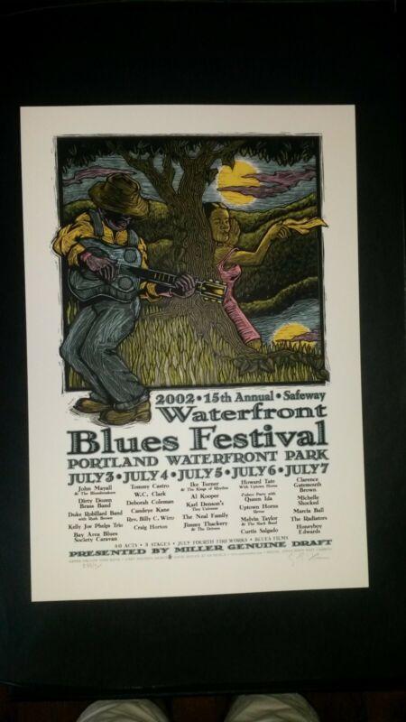 Waterfront Blues Festival, Portland | 2002 Silk Screen Poster | Gary Houston