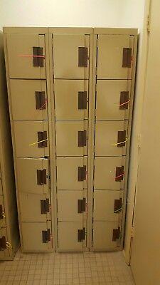 Edsal Sl8005tn Box Locker Add-on 6 Tier Good Used Condition