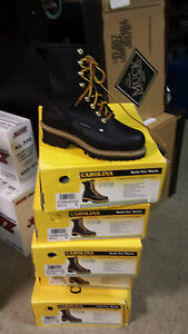 WOMENS CA1420 carolina logger work boots,STEEL TOE waterproof 7 wide freeS&H