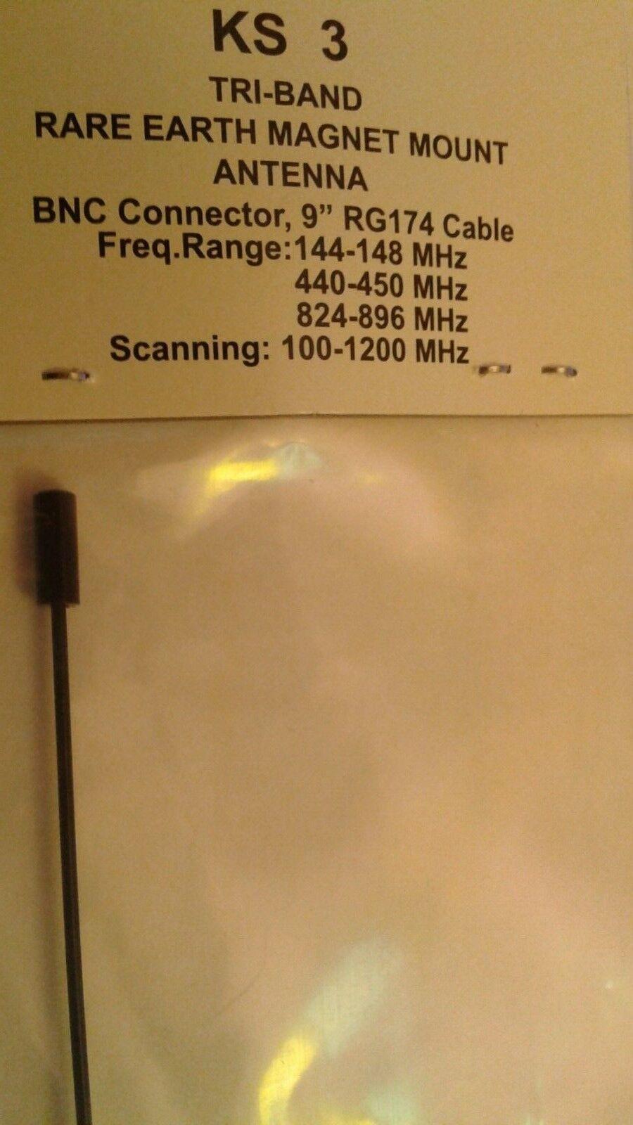 Workman ALL Band HAM Radio Antenna Rare Earth Magnet W/CABLE BNC Connector UHF VHF KS3