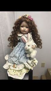 Porcelain Doll with bunny