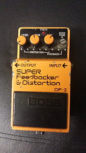 Boss super feedbacker & distortion DF-2 electric guitar pedal Manly West Brisbane South East Preview