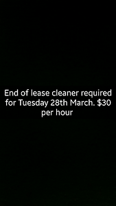 CLEANER NEEDED for end of lease in Cloverdale 6105 Belmont Belmont Area Preview