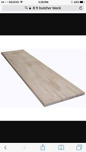 8 ft butcher block counter top brand new