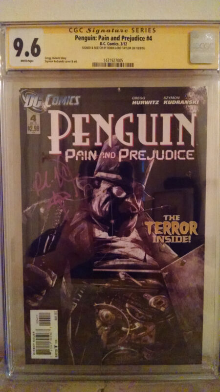 Penguin: Pain & Prejudice #4 CGC 9.6 AUTOGRAPHED by ROBIN LORD TAYLOR