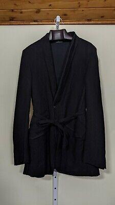 Lost & Found Ria Dunn Robe Blazer Belted Linen Wool Blend Artisan Italy