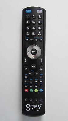 Nuevo Reemplazo OKI V40B-FHSU mando a distancia Simply-All™ Negro
