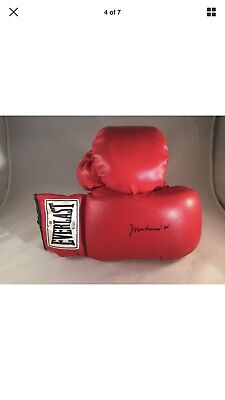 47109149fdd Muhammad Ali Signed Gloves w  COA Online Authentics - Excellent