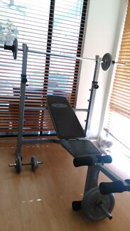 Bench Press & Nordic Weight Set Seville Grove Armadale Area Preview