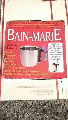 Bain Marie Cooking (Bain Marie double  Boiler 1.5litre 18-10 stainless Steel. Cooking/Pastry* )