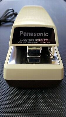 Vintage Panasonic Electric Stapler As-300 Commercial Heavy Duty - Made In Japan