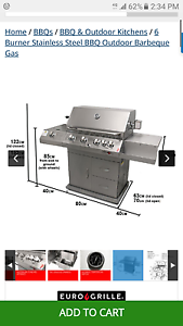 Brand new 6 burner Euro Grille bbq Cronulla Sutherland Area Preview