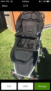 Black strider with extra seat and car seat Leumeah Campbelltown Area Preview