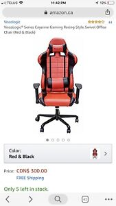 RACING SEAT GAMING CHAIR *BRAND NEW* WITH METAL FRAME