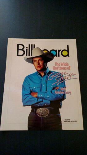 GEORGE STRAIT 10TH ANNIVERSARY 1990 RARE ORIGINAL PRINT PROMO POSTER AD