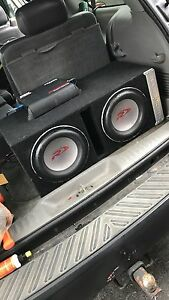 ^** ALPINE TYPE R SUBS IN BASSWORX BOX WITH MTX MONO BLOCK AMP!