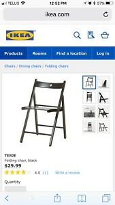 Kerje ikea brown folding chairs. Selling 23 of these.