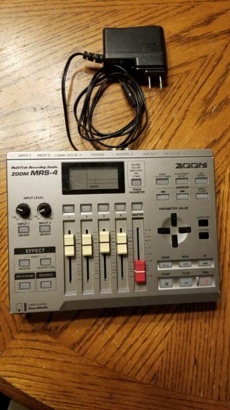 Zoom MRS-4 Multitrak digital Recording Studio, multi track, power supply awesome