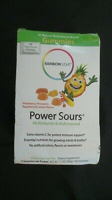 Rainbow Light Power Sours Multivitamin 30 Packets of 4 Gummies Each #4
