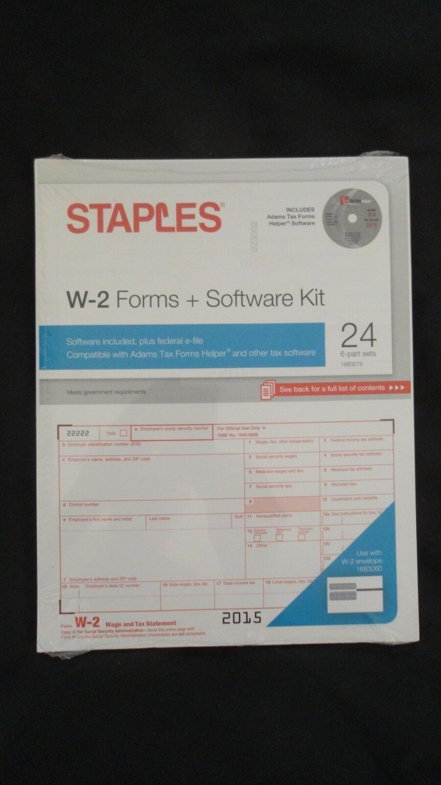 UPC 718103240451 - 24 Count Pack Of Staples 2015 Irs Tax W-2 6 ...