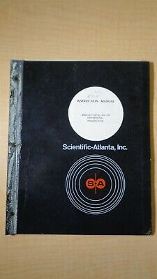 Scientific-atlanta Models 1116-13-0 Differential Preamplifier Manual 5f B4