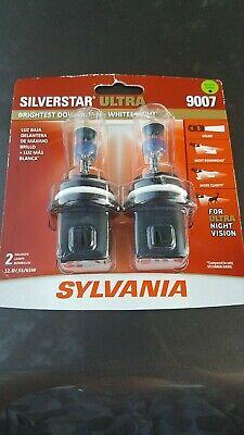 Sylvania SilverStar Ultra 9007 Dual Pack Halogen Bulbs Brand New/Sealed! 2 Bulbs