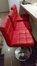Bar Chair Leather  Red Rhodes Canada Bay Area Preview