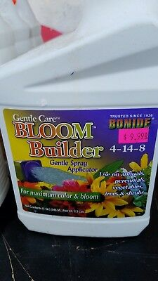 New BONIDE Gentle Care Bloom Builder Spray Applicator 4-14-8 * FREE SHIPPING *