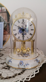 Vintage Small Mantle Clock French Provincial made in Germany