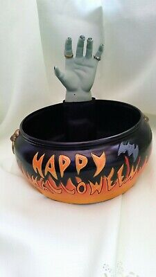 Gemmy Motion Activated w/ Sound Halloween Candy Bowl w/Witch's Hand