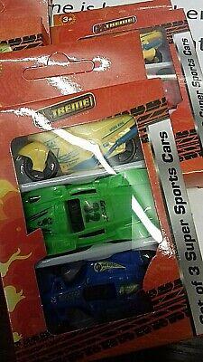 Set of 3 Toy Cars in Box Green, Yellow, Blue. BNIB