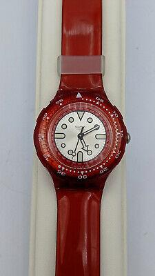 "Vintage AG 1999 38.4mm Scuba Swatch ""Orange Sanguine"" SDR101 200 Meters Watch"