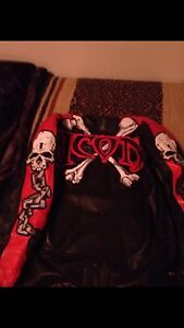 ICON skull and crossbones leather