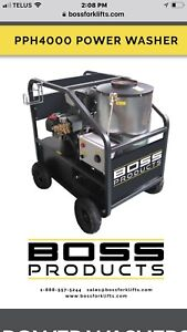 Industrial hot water pressure washers